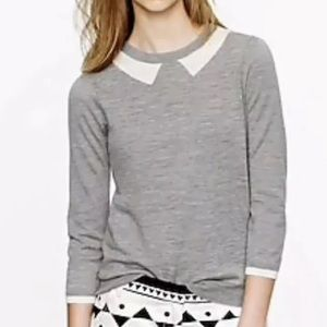 J. Crew Tippie Sweater In Trompe L'Oile